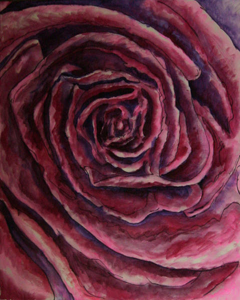 Wall Art - Painting - Big Red Rose by Laura Heggestad