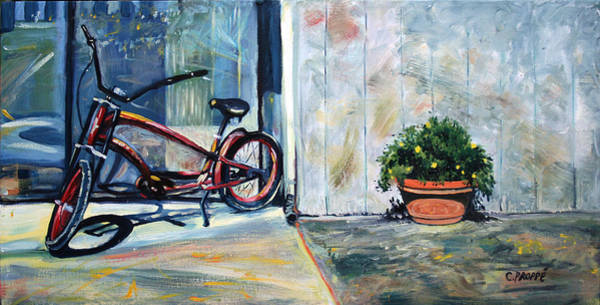 Sausalito Painting - Big Red Sausalito Cruiser by Colleen Proppe