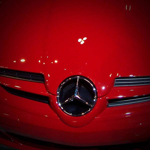 Automotive Photograph - Big Red Smile - Mercedes-benz S L R Mclaren by Serge Averbukh