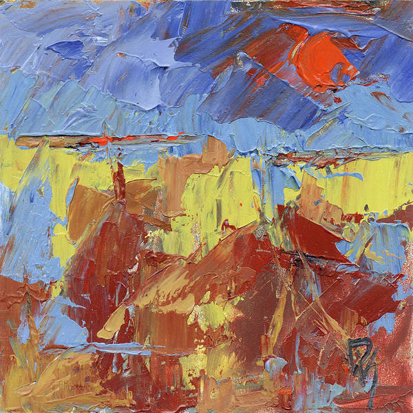 Painting - Big Red Sun by David King