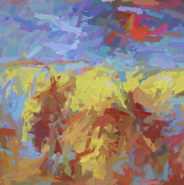 Digital Art - Big Red Sun Dg by David King