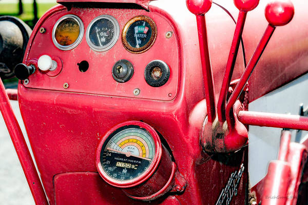 Photograph - Big Red Tractor by Erich Grant