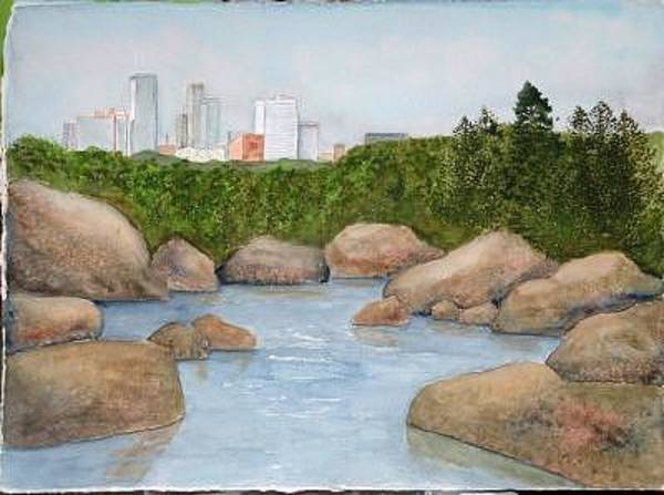 Painting - Big Rock Little Rock by Diane Ziemski