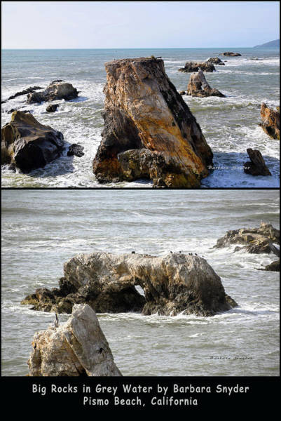 Wall Art - Photograph - Big Rocks In Grey Water Duo by Barbara Snyder