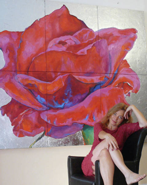 Photograph - Big Rose And Me by Eva Konya