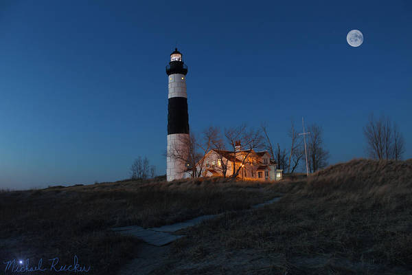 Sandy Point State Park Photograph - Big Sable Lighthouse Sunset by Michael Rucker