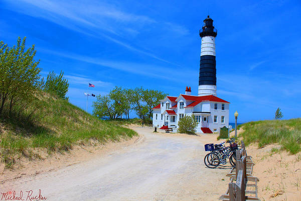 Lighthouse Wall Art - Photograph - Big Sable Point Lighthouse by Michael Rucker