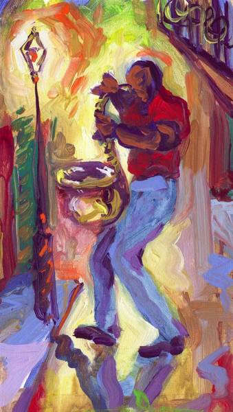 Wall Art - Painting - Big Sax by Saundra Bolen Samuel