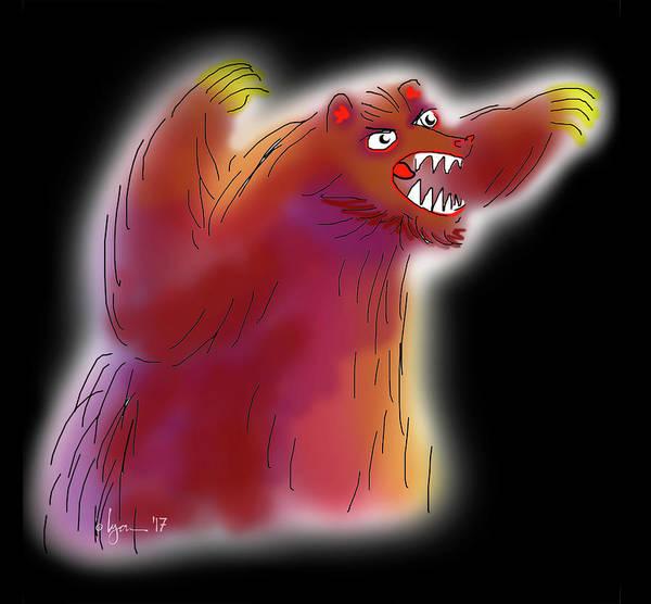 Drawing - Big Scary Bear by Angela Treat Lyon