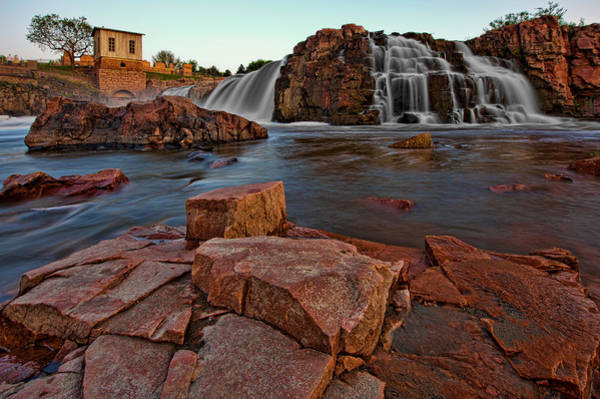 Sioux Wall Art - Photograph - Big Sioux River Falls by Dan Mihai