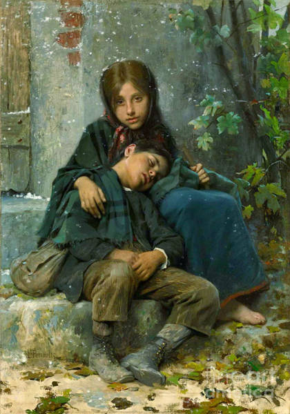 Wall Art - Photograph - Big Sister 1890 by Padre Art