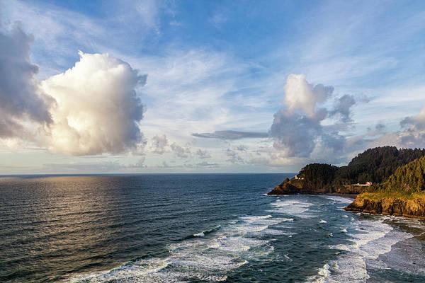 Heceta Head Lighthouse Photograph - Big Skies Over The Oregon Coast by Andrew Soundarajan