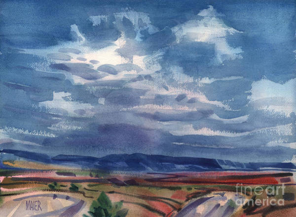 Skyscape Painting - Big Sky New Mexico by Donald Maier