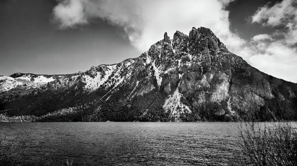 Photograph - Big Snowy Mountain In Argentine Patagonia - Black And White by Fine Art Photography Prints By Eduardo Accorinti