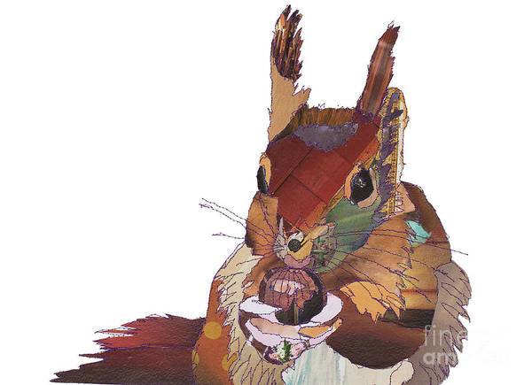 Red Squirrel Wall Art - Digital Art - Big Squirrel by MGL Meiklejohn Graphics Licensing