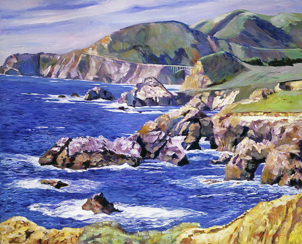 Wall Art - Painting - Big Sur California Coast by David Lloyd Glover
