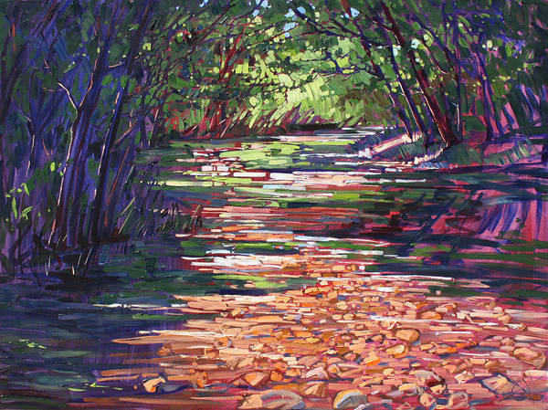 California Wine Country Painting - Big Sur Campground by Erin Hanson