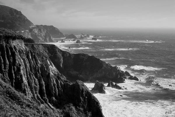 Big Sur Coast Bw  Art Print