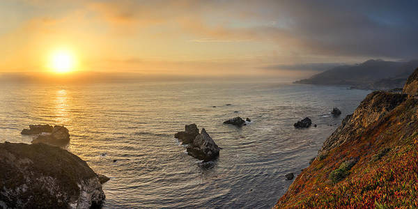 Photograph - Big Sur Coastline At Sunset by James Udall