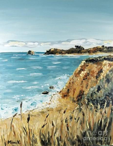 Painting - Big Sur Hike by Maria Langgle