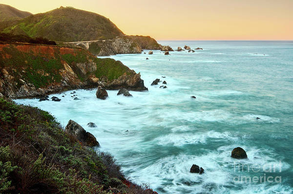 Cliffs Wall Art - Photograph - Big Sur Sunrise by Jamie Pham