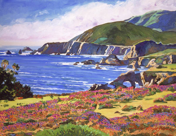 Painting - Big Sur Wildflowers - Plein Air by David Lloyd Glover