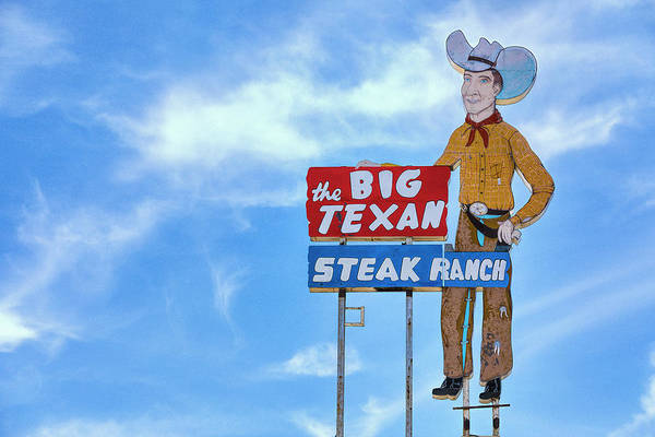 Wall Art - Photograph - Big Texan Steak Ranch - #1 by Stephen Stookey