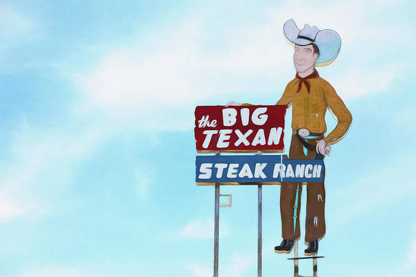 Wall Art - Photograph - Big Texan Steak Ranch - #2 by Stephen Stookey