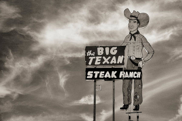 Wall Art - Photograph - Big Texan Steak Ranch - #4 by Stephen Stookey