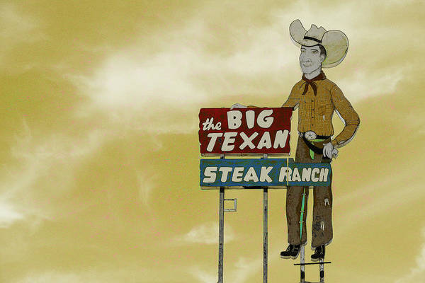 Wall Art - Photograph - Big Texan Steak Ranch - #5 by Stephen Stookey