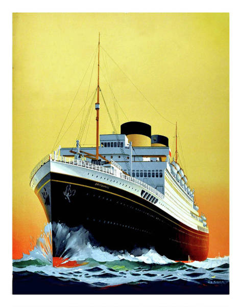 Cruiser Painting - Big Tourist Cruiser, Vintage Travel Poster by Long Shot