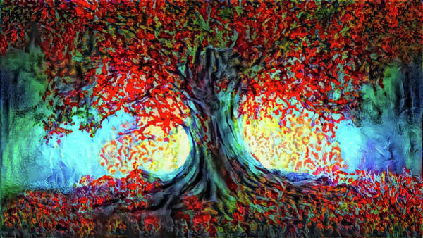 Single Leaf Mixed Media - Big Tree by Lilia D