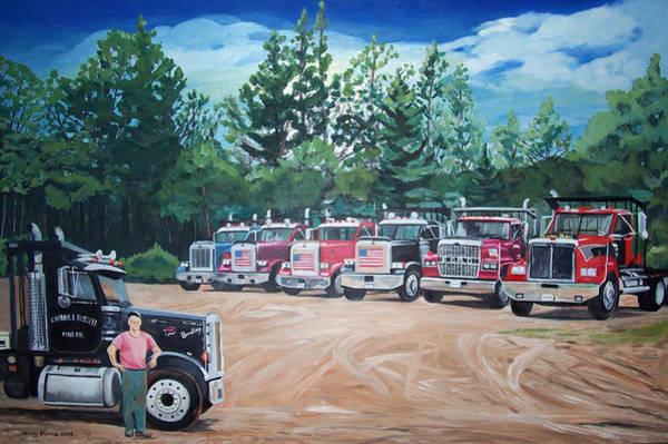 Painting - Big Trucks by Stella Sherman