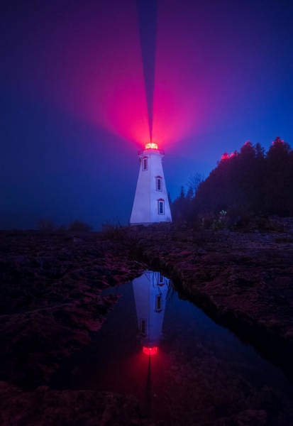 Wall Art - Photograph - Big Tub Lighthouse Reflection by Cale Best