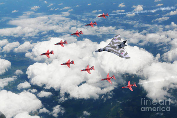 Avro Vulcan Wall Art - Digital Art - Big V Formation by J Biggadike
