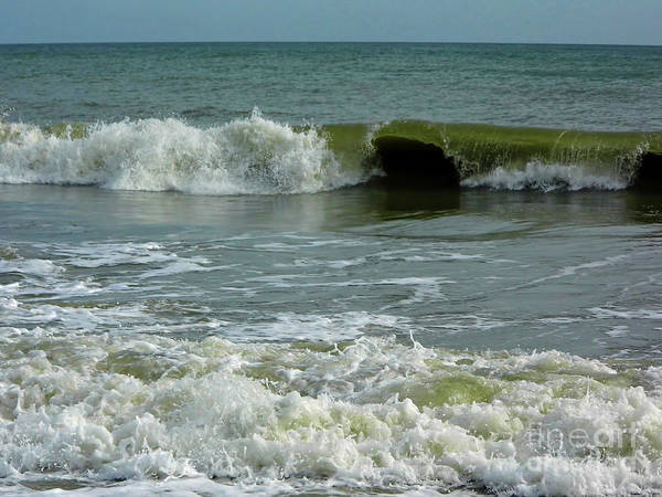 Photograph - Big Waves At Wabasso by D Hackett