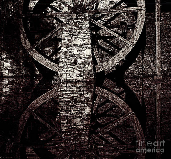 Photograph - Big Wheel In Bw by Paul W Faust - Impressions of Light
