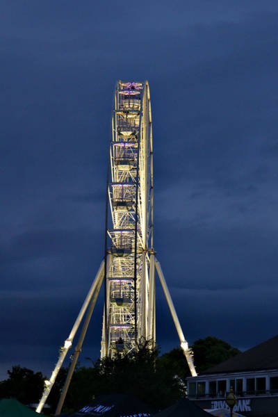 Photograph - Big Wheel Lit Up At Dusk by Jeremy Hayden
