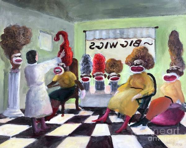 Sock Monkey Painting - Big Wigs And False Teeth by Randy Burns