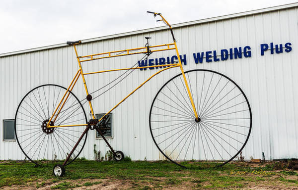 Photograph - Big Yellow Bicycle by Edward Peterson