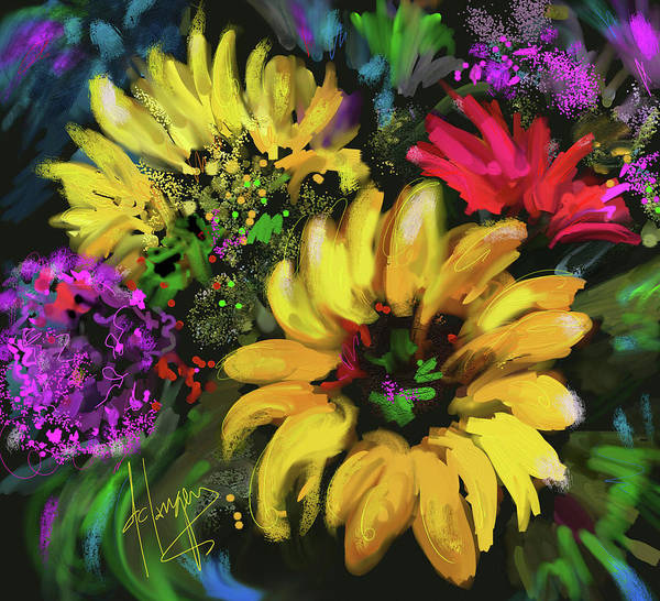 Painting - Big Yellow Flower by DC Langer