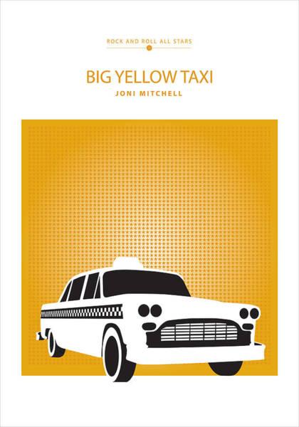 Digital Art - Big Yellow Taxi -- Joni Michel by David Davies