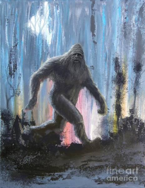 Wall Art - Digital Art - Bigfoot By Moonlight by Charles A Guthrie