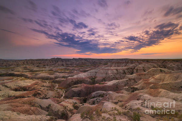 Badlands Photograph - Bigfoot Overlook Sunset At Badlands South Dakota by Michael Ver Sprill