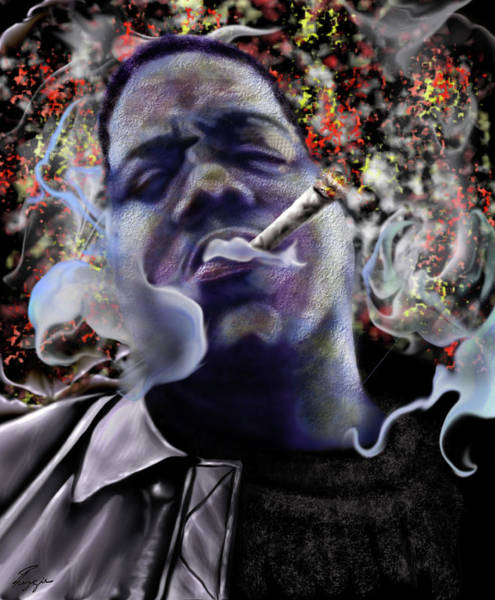 Big Small Painting - Biggie - Burning Lights 5 by Reggie Duffie