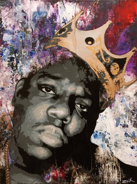 Obey Painting - Biggie by Bobby Zeik