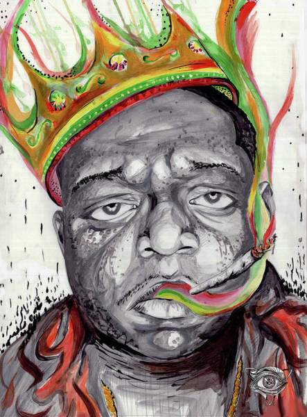 Dope Painting - Biggie Smalls by Liam Reading