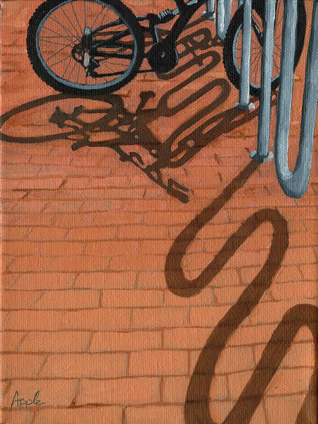 Wall Art - Painting - Bike And Bricks No.2 by Linda Apple
