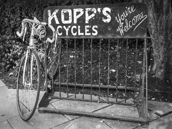 Photograph - Bike At Kopp's Cycles Shop In Princeton by Ben and Raisa Gertsberg