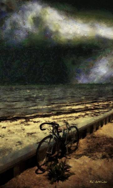 Painting - Bike At The Beach by RC DeWinter